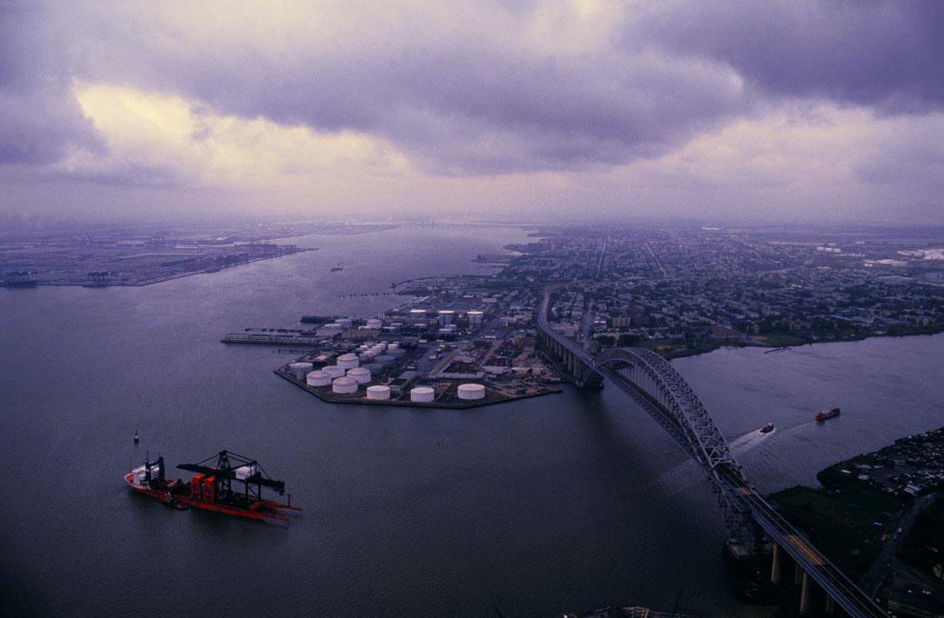 for Sealand Corporationaerial above the Bayonne Bridge