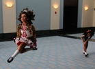 Competitors warm up in the hallway at the World Irish Dancing Championships in Boston, Massachusetts March 24, 2013.