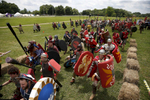 Slippery Rock, PA -- 6/21/2017 -  Armed with foam shields and weapons, gladiators from the camp Rome charged into battle at Ragnarok XXXII.