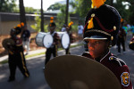 A boy marches in the Charlotte Labor Day Parade ahead of the Democratic National Convention in Charlotte, North Carolina September 3, 2012.