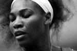 Serena Williams returns a serve during her match at the U.S. Open tennis tournament in New York, September 1, 2012.