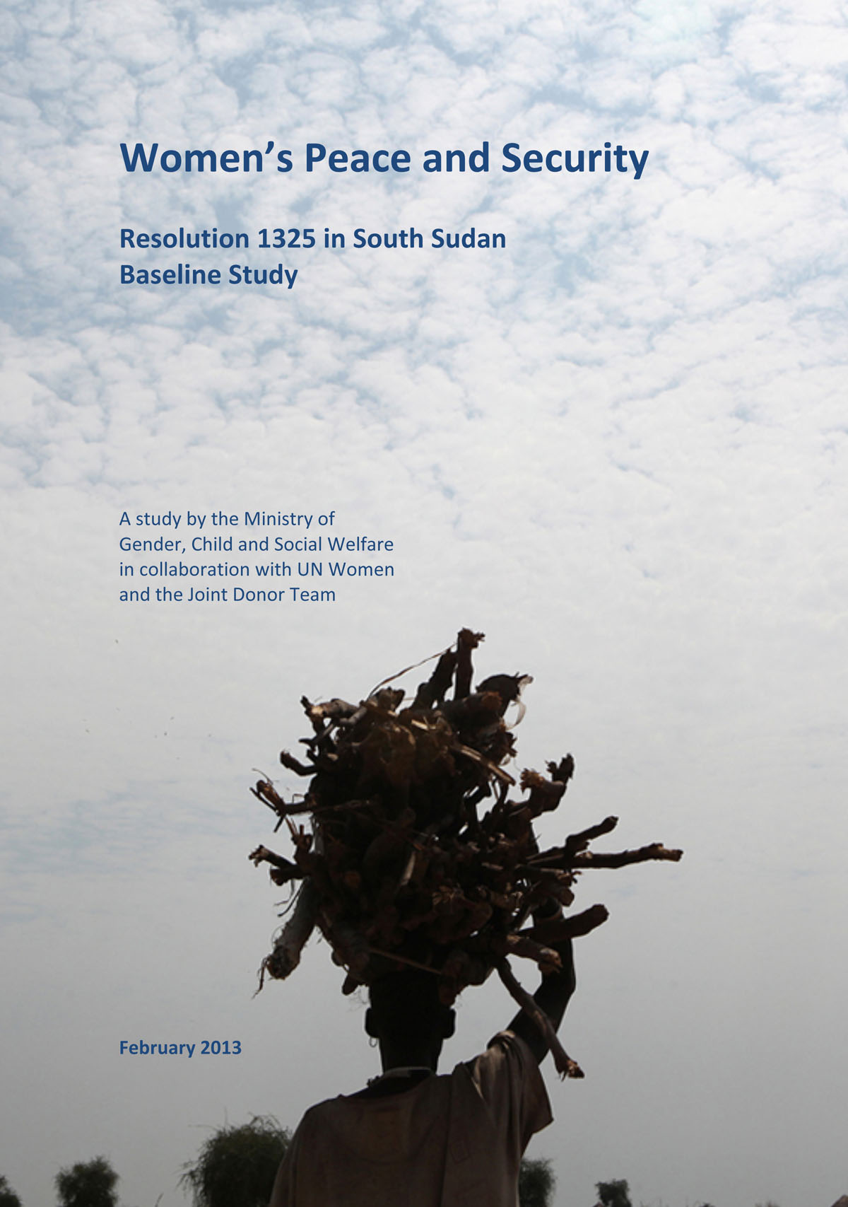 'Women's Peace and Security: Resolution 1325 in South Sudan, Baseline Study' edited and designed, February 2013