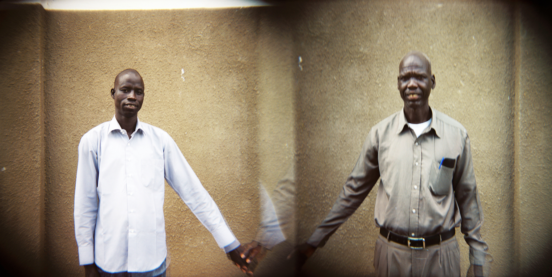 "(L) Peter Uliech Galdino, Evangelist from Eastern Equatoria:  ""I wish for all people of the Republic of South Sudan to forgive each other, live in peace and forget the past. We must focus on developing the nation and celebrate all of our diversity.{quote}(R) William Magok Khan, Pastor from Unity State: {quote}From civil war, to tribalism which opened South Sudan to war again is not good for the South Sudanese people. We need to talk to the people about peace and tell them to stop the war. {quote}"