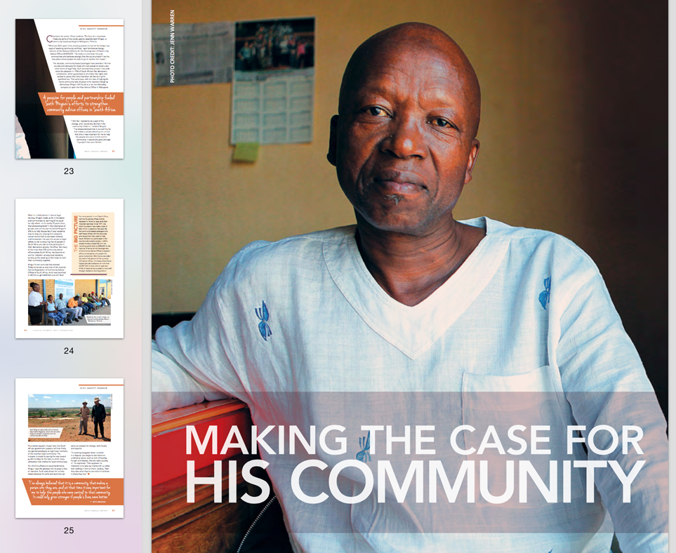 Inspiring Change: Portraits of PartnershipPhotographs for the Charles Stewart Mott Foundation Annual Report, 2014