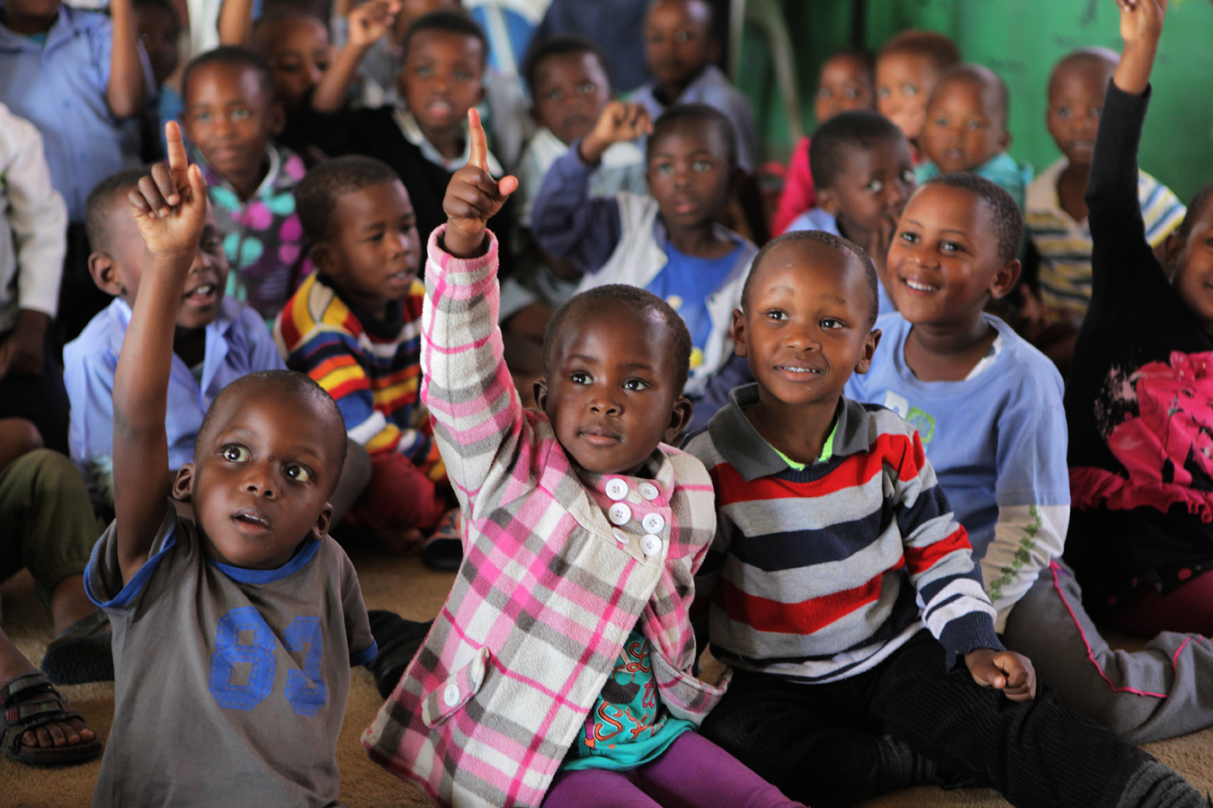 The Grade RR class at the Zamani ECD Centre on the outskirts of Durban in the eThekwini district. Principal Ethel Ngcobo first opened as a crèche in 1995, responding to the need for children to be cared for while their parents were at work. After years of dedication and support from ABSA, the Outreach Foundation and Save the Children, she built a proper ECD centre. Over 92% of preschool children in KwaZulu-Natal attend unregistered ECD centres (crèches). Save the Children, operating in KZN for over 50 years, recognised the need to support crèches in the area with better management skills and access to learning materials, as well as running the crèche forums and supporting crèches with registration to become ECD centres.
