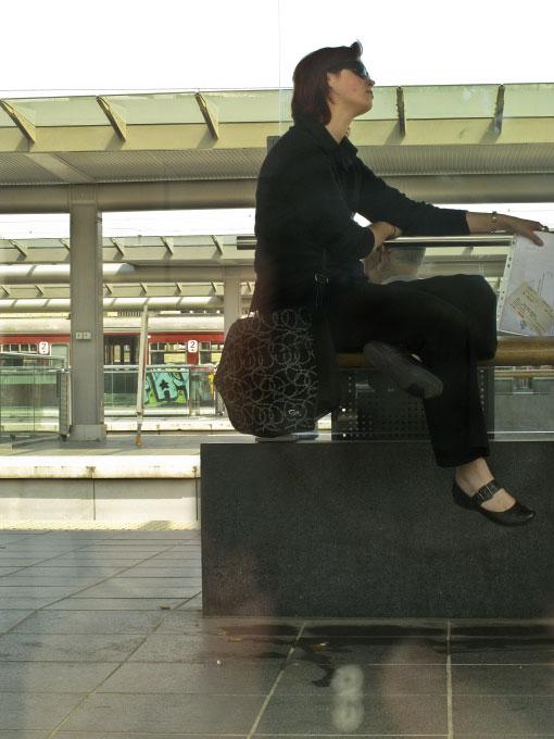 Train platform, Belgium