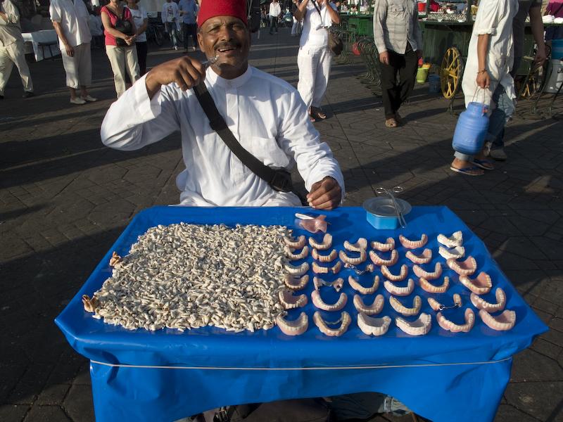 Dentures Jemaa El Fna, Marrakech, Morocco