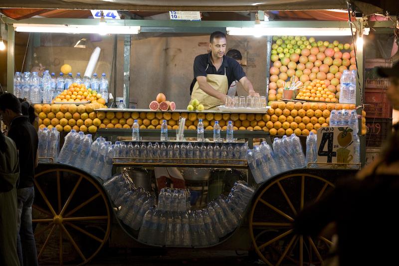 Juice vendor Jemaa El Fna, Marrakech, Morocco