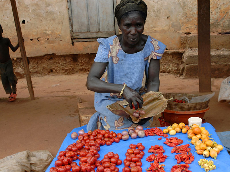 Market lady with tomatoesGhana