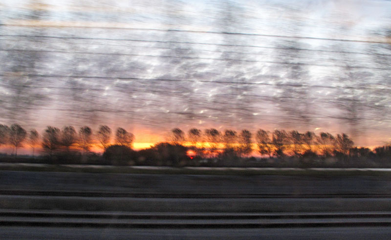 Early morning train, Amsterdam to Hannover