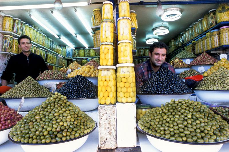 Olive vendorsMarrakech, Morocco