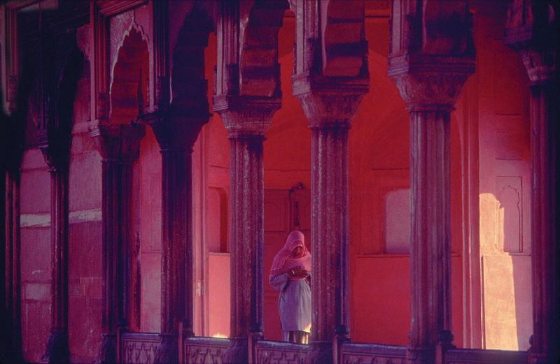 Woman at prayer, Jama MasjidDelhi, India