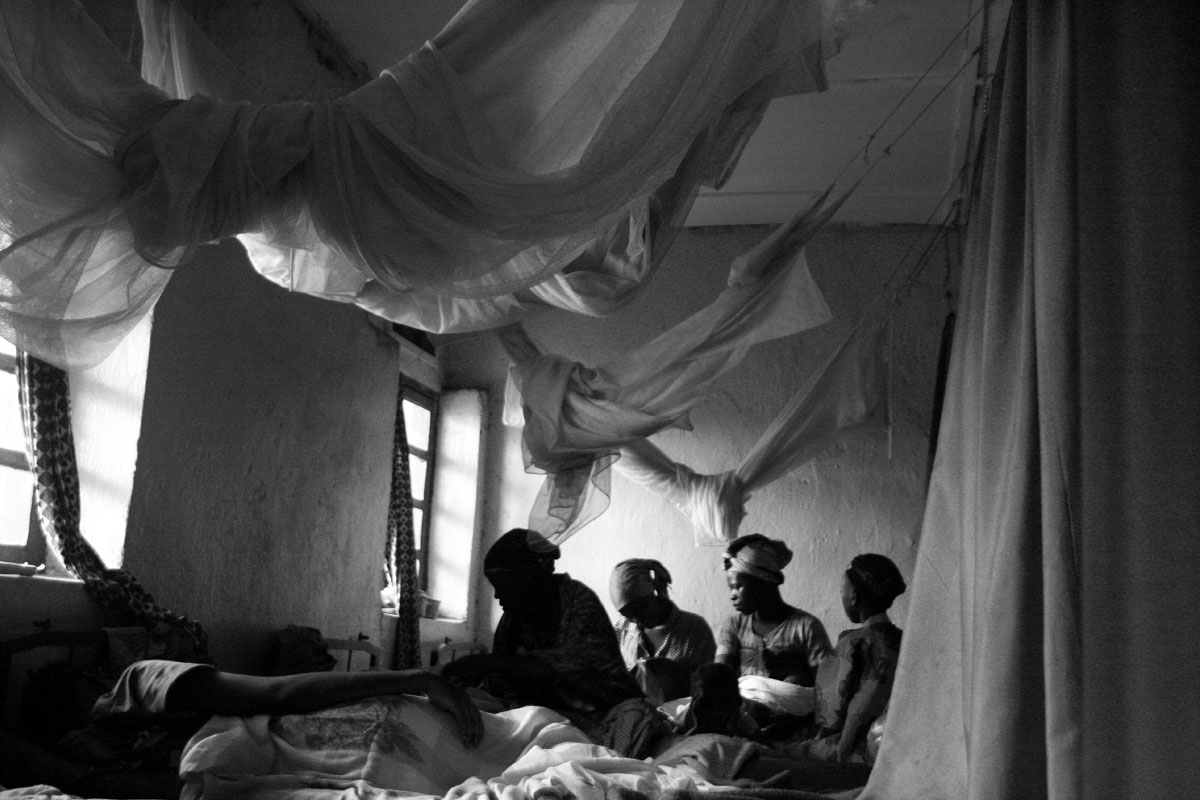 Women tend to their newborn children in the maternity ward of Magunga Camp on the outskirts of Goma, Demcratic Republic of Congo.  The camp, which has been in place for about three years, is home to about 29,000 people who have been displaced because of fighting between rebel groups that wish to control the area.
