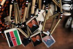 Kenyan jewelry bears the likeness of Barack Obama.