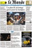 LE MONDE (France)(Top)  Un trader a la Bourse de Chicago, jeudi 18 septembre, apres l'annonce du plan de sauvetage.  (Credit: Amanda Rivkin/Agence France Presse)Front page, {quote}Un plan de sauvetage de geant pour les banques{quote}September 20, 2008.