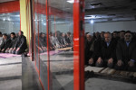 DIYARBAKIR, TURKEY.  Men pray in an underground shopping center during a weekly protest called