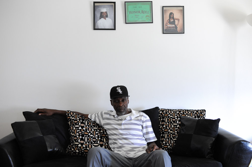 CALUMET CITY, ILLINOIS. Stanley Wrice sits in the living room of the home he shares with his daughter and son-in-law on November 4, 2015.  Wrice spent 31 years in jail for a crime he did not commit after a confession was extracted from him in 1982 by Chicago Police Area Two detectives using methods classified as torture.