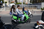 LIMASSOL, CYPRUS.  Young people cruise the main coastal road mid-morning on March 29, 2013.