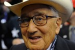 SAINT PAUL, MINNESOTA.  Henry Kissinger with the Texas delegation at the conclusion of the Republican National Convention at the XCel Center on day four, September 4, 2008.