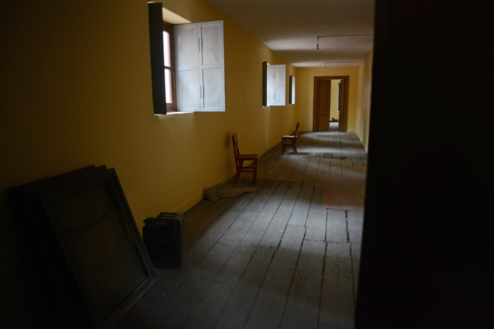 ISTANBUL, TURKEY.  The interior of the upstairs balcony of the Surp Asdvadzadzin Armenian Catholic Church in Beyoglu on November 30, 2012.  The church makes money by renting out space it owns in the neighboring building to a series of night clubs, including one gay club.