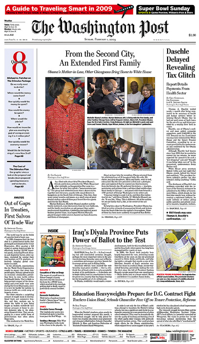 THE WASHINGTON POST (USA)(Top left) Marion Robinson, Michelle Obama's mother (Credit: Pool photograph by Amanda Rivkin){quote}From Second City, An Extended First Family: Obama's Mother-in-Law, Other Chicagoans Bring Home to White House,{quote} p. A1February 1, 2009