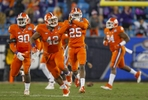 Event and action coverage from the 2015 Atlantic Coast Conference football championship between Clemson and UNC Saturday, December 5, 2015 at Bank of America Stadium in Charlotte, NC. Photo by JASON E. MICZEK - www.miczekphoto.com