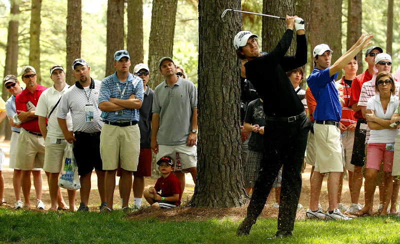Adam Scott from the rough at the 2008 Wachovia Championship.