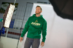 NASCAR superstar Dale Earnhardt, Jr. is seen behind the scenes during a photo shoot for Mountain Dew and Mountain Dew Kickstart at Hendrick Motorsports Wednesday, February 5, 2014 in Charlotte, NC. (Jason E. Miczek/AP Images for Mountain Dew)