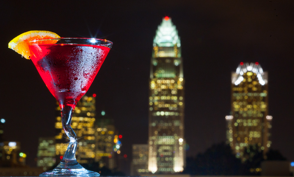 Loft 1523 not only has good drinks, but equally good views of uptown Charlotte. JASON E. MICZEK - www.miczekphoto.com