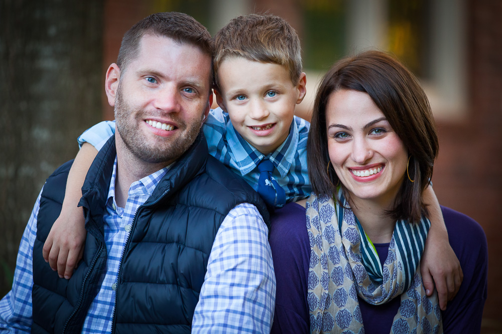 The Hepburn family - Maggie, Scott and Riley at their Charlotte, NC home Saturday, October 25, 2014. Photo by JASON E. MICZEK - www.miczekphoto.com