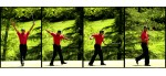 In this sequence, Tiger Woods reacts to making an eagle putt during his final round of the 2007 Wachovia Championship, which he won.