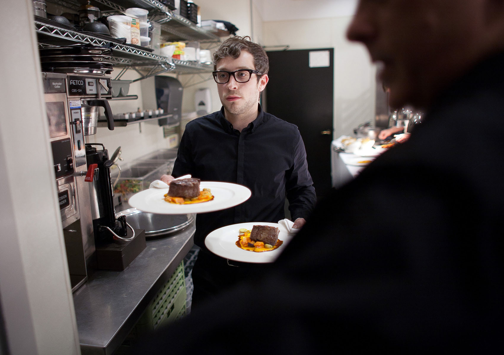 Server, Canlis restaurant, Seattle.