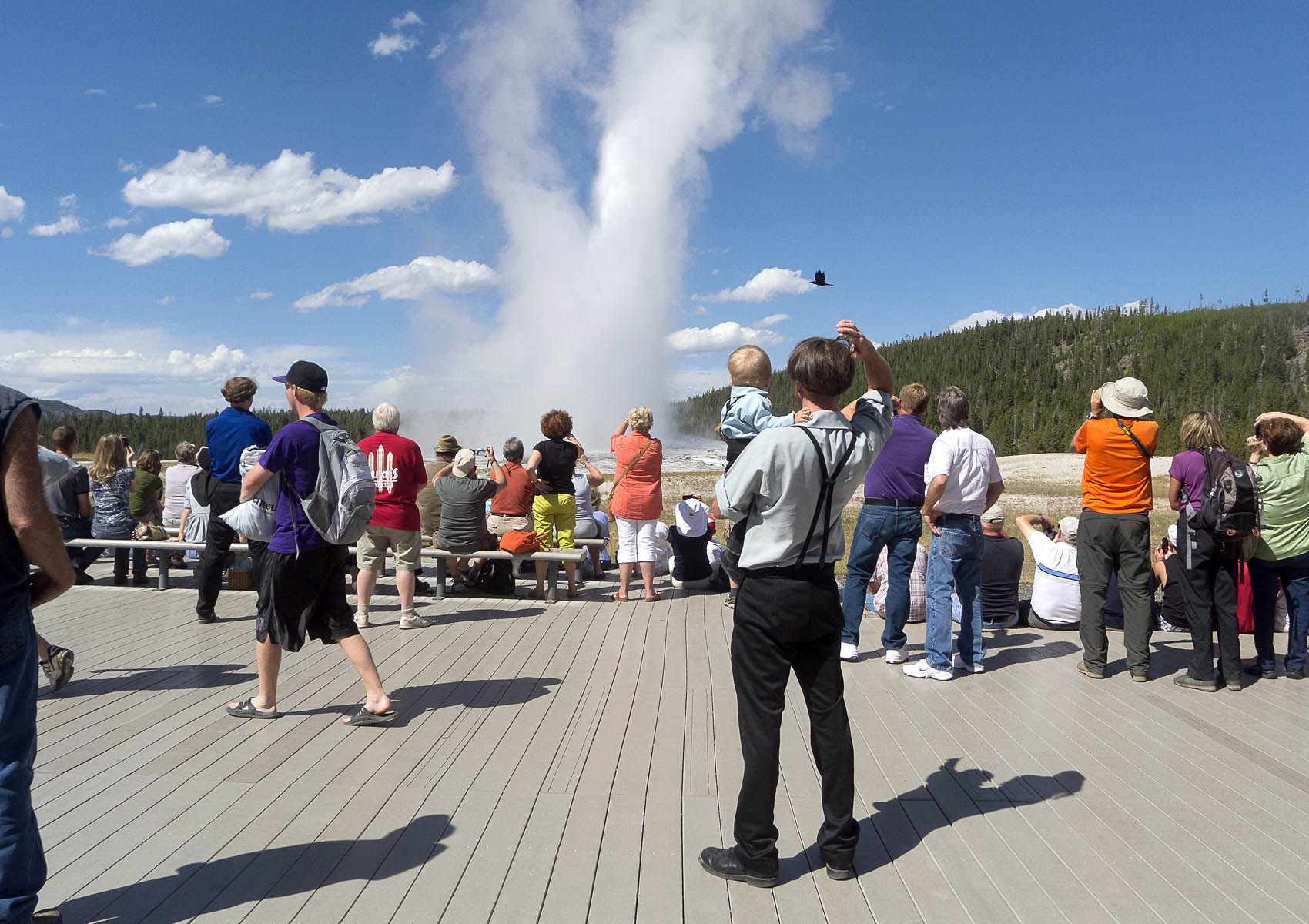 Old Faithful Geyser, Yellowstone National Park, Wyoming.