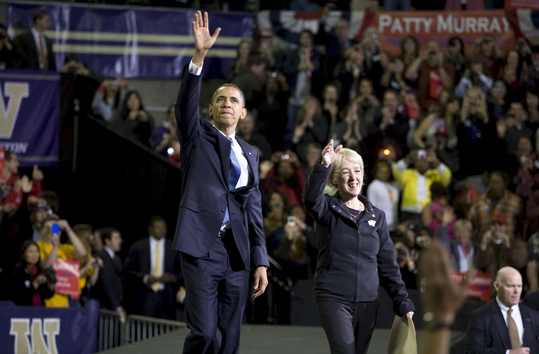 SEATTLE, WA - OCT 21: President Barack Obama campaigns for Senator Patty Murray at Hec Edmundson Pavillion on the University of Washington campus on Oct 22, 2010. Photo by Ron Wurzer