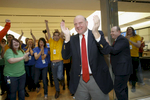 Steve Ballmer, former Microsoft CEO at a store grand-opening.