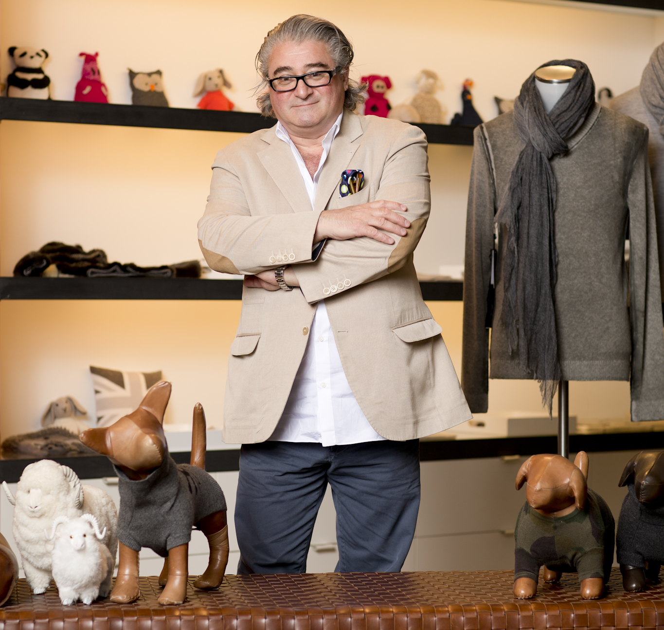 Designer Christopher Fisher in his New York showroom