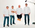 Chefs Alain Allegretti, Mario Batali, Leo Forneas, Julian Medina