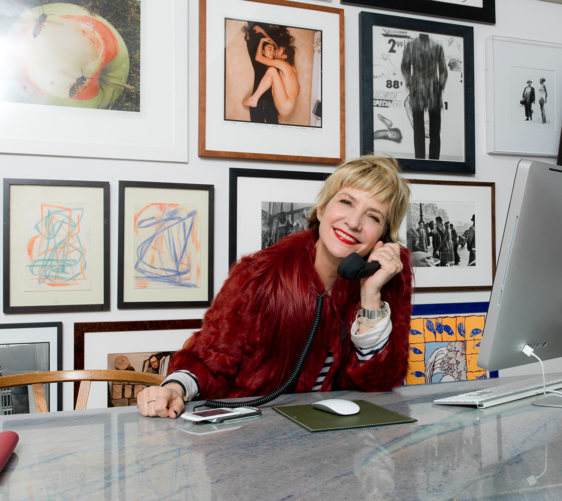 Stylist Lori Goldstein in her New York office