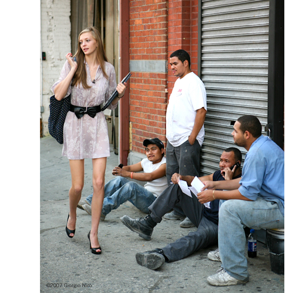 The spring time streets of NYC girls and boys.