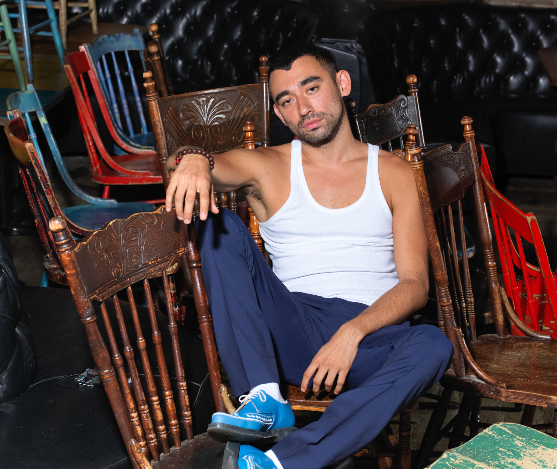 Fashion director and fashion editor Nicola Formichetti at La Esquina in New York