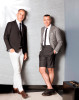 Bon Appétit Editor in Chief Adam Rapoport and designer Thom Browne in the New York showroom