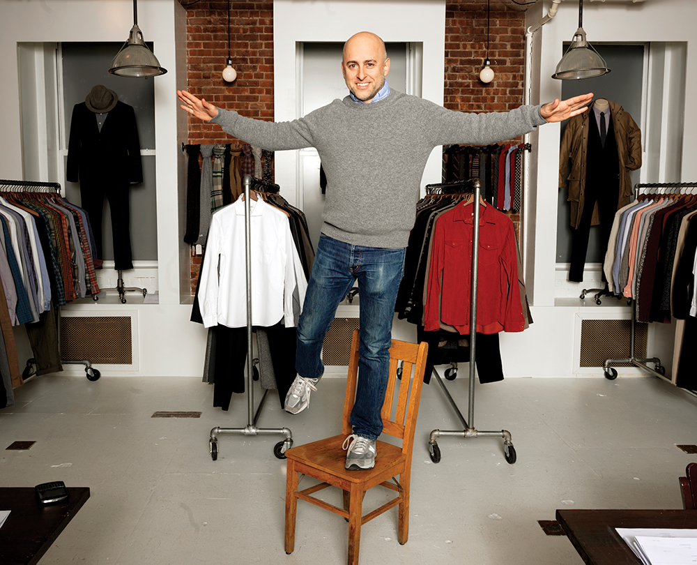 Designer Steven Alan in his New York showroom