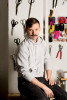 Fashion designer Adam Selman in his New York City studio