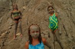 The mud at Mohegan's Bluff is a favorite with island children.