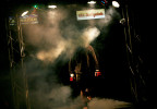 "To the driving beat of ""Remember the Name"", by Fort Minor, Roanoke fighter, Joel Wyatt, walks through smoke and colored lights as he makes his entrance to the ring for the mixed martial arts fight called the ""Ruckus in the Cage"" held at the Roanoke Civic Center on October 7th."