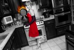 "Photo illustration for story on Roanoke's ""Hot Moms"". Robbie Lavender Nichols pictured in her kitchen."