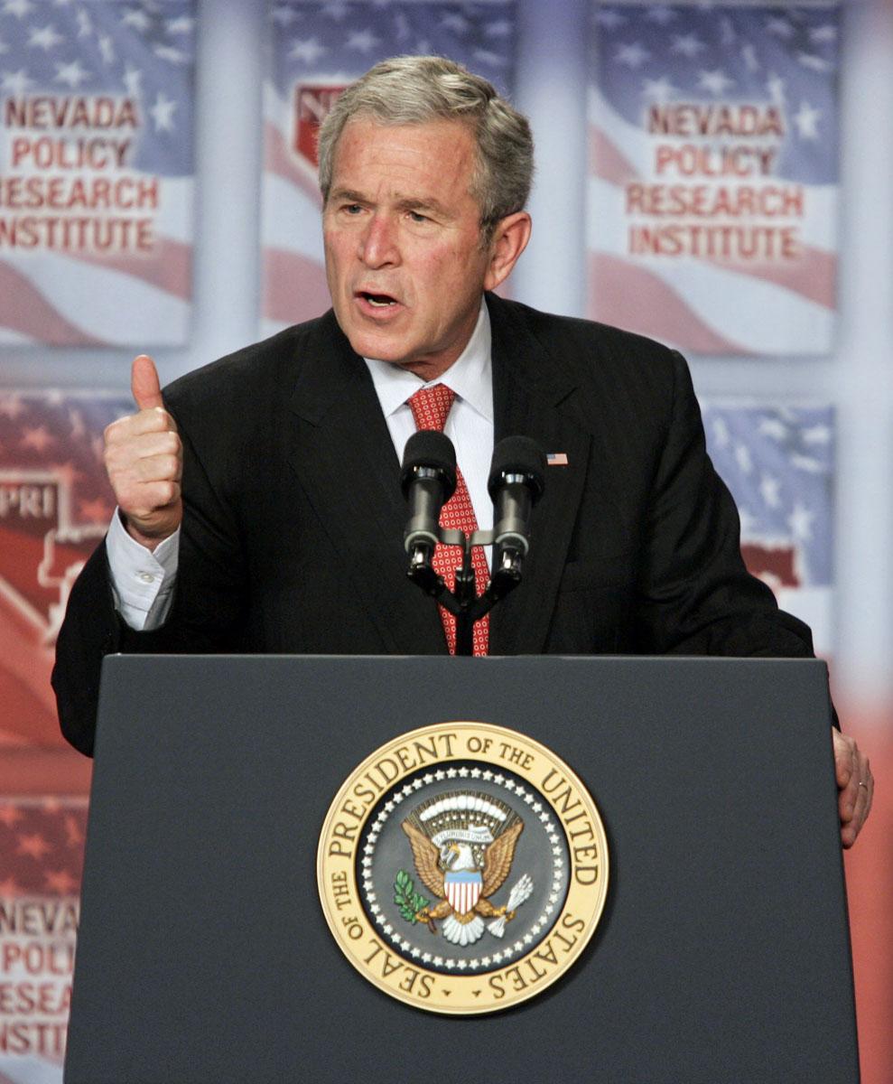George W Bush visits