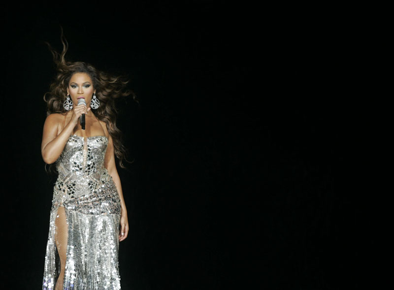 Beyonce Knowles performs at the MGM Grand Garden Arena Saturday, Aug. 25, 2007.