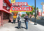 Owners Lance Johns, left, and Derek Stonebarger, stand outside Atomic Liquors, located at 917 Fremont Street, Thursday, June 21, 2012. it by the end of the year.