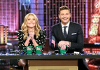 Kelly Ripa and Ryan Seacrest are pictured during the production of {quote}Live with Kelly and Ryan{quote} in Las Vegas on Monday, November 18, 2019. Photo: Ronda Churchill/ABC Entertainment©2019 ABC Entertainment. All Rights Reserved.
